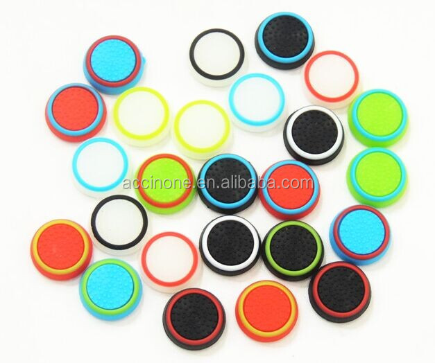 Dual Color Silicone Joystick Cap Thumb Grip Stick Grips Caps Case For PS4 PS3 Xbox one WiiU Controller FAST SHIPPING