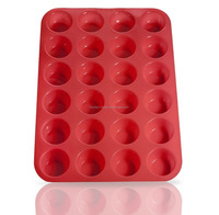 BPA Free Non-stick Heat Resistant Kitchen Bakeware 24 Cups Silicone Muffin Pan/Silicone Bakeware Muffin Mold/Cupcake Baking Pan