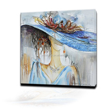 Hot Sale 100% Handmade Abstract Art Wall Painting Beautiful Fashion Girl Picture Decorative