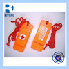 promotional cheap flat plastic whistle