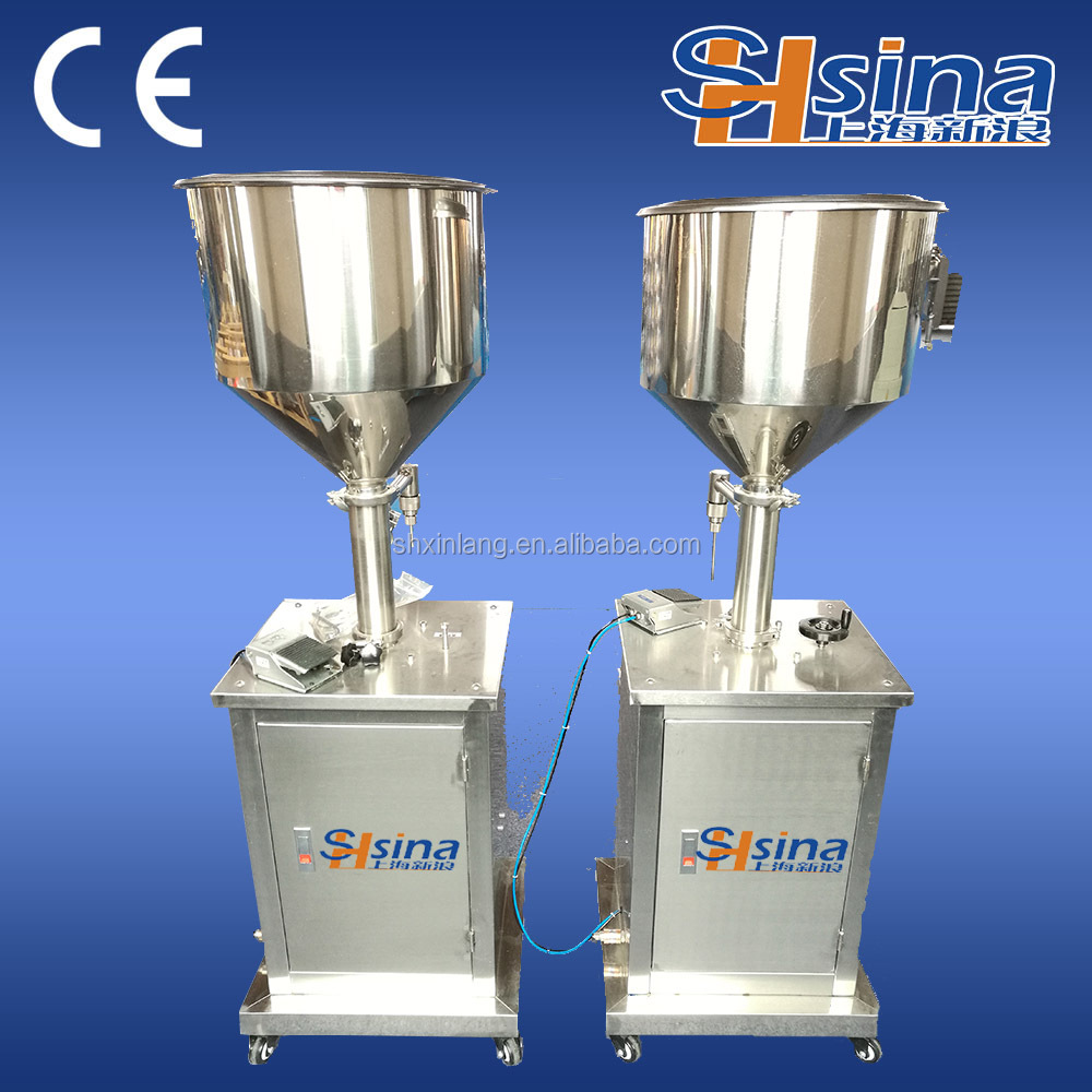 cheap and good quality vertical semi-automaitic face cream filling machine