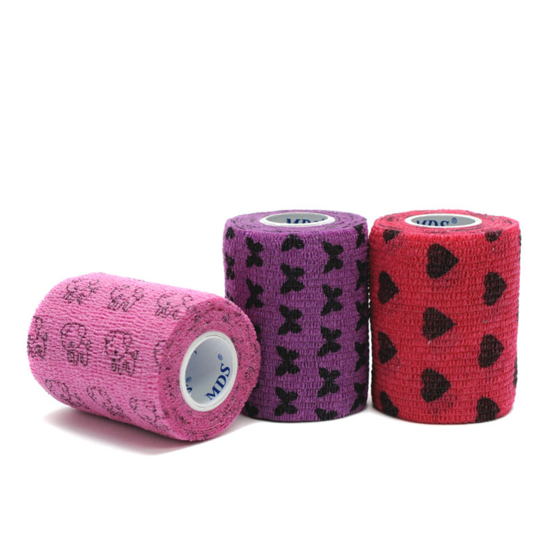medical supplies Printed Cotton elastic self sticky wrap bandage