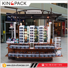 Modern unique design high end mdf with mental made sunglasses kiosk for shopping mall eyeglasses retail store fixtures