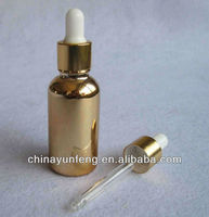 1 oz 30ml gold dropper bottle