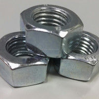 Galvanized carbon steel bolt and hex nut