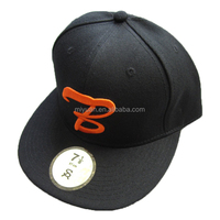 USA DIY Supreme Wholesale Custom Your Own Logo Black Acrylic Adult Women Embroidery Flat Brim Snapback cap Factory
