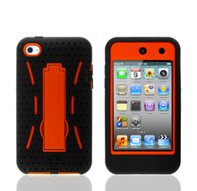 Combo case for ipod touch 4,for ipod touch 4 robot case with top quality