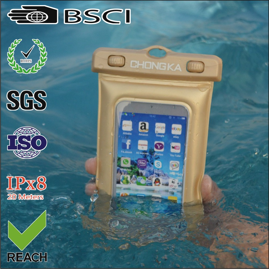 Fancy High Quality Mobile Phone PVC Waterproof Cases With String