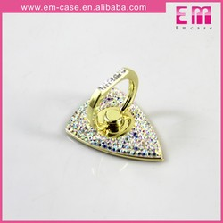New Arrival High Quality Love Shape Diamonds Ring Holder For Universal Mobile Phone
