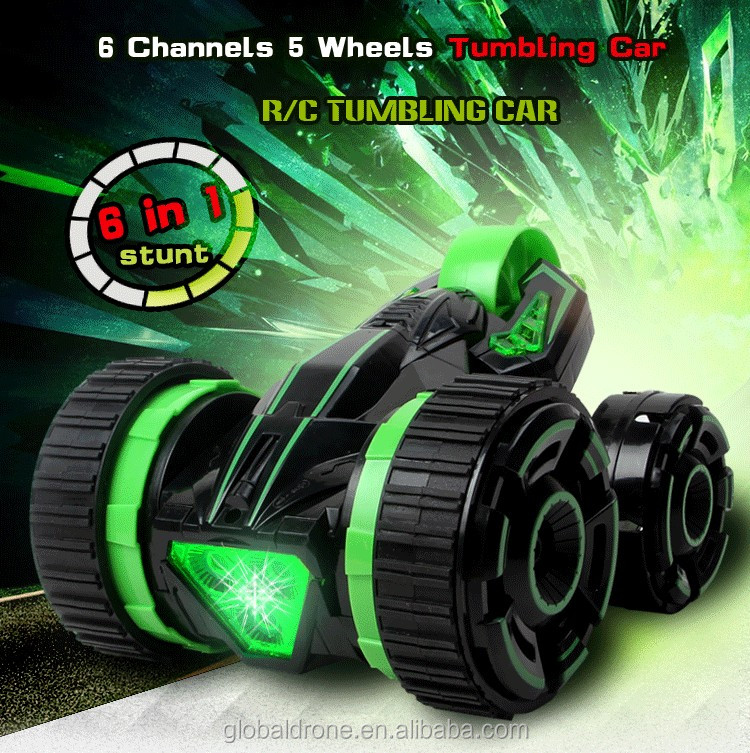 Remote Control Car Rc Electric Toy Acrobatics Car 6ch Five Rounds Stunt Rc Car For Children Kids RC Toys Gift