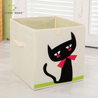 Decorative Wholesale foldable storage box , cotton canvas storage bin