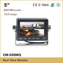 5 Inch Tft Lcd Car Rearview Monitor with digital panel,Remote control,OSD menu,Sunshade design,Multi language,Build in speaker