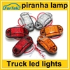 10-30v truck trailer turn signal light, clearence light, led side marker piranha lamp