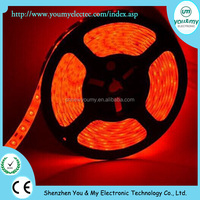 5m/roll SMD 5630 led flexible strip light 60leds/m waterproof Red color 10mm PCB width