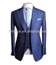 wholesale real sample fashion shinny tuxedo suits for men