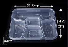 chinese restaurant 3 4 5 compartment plastic disposable food packing