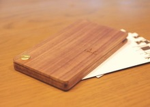 Wholesale diy wood carving business card holder