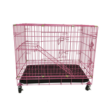Folding wire mesh pets animal cat cages