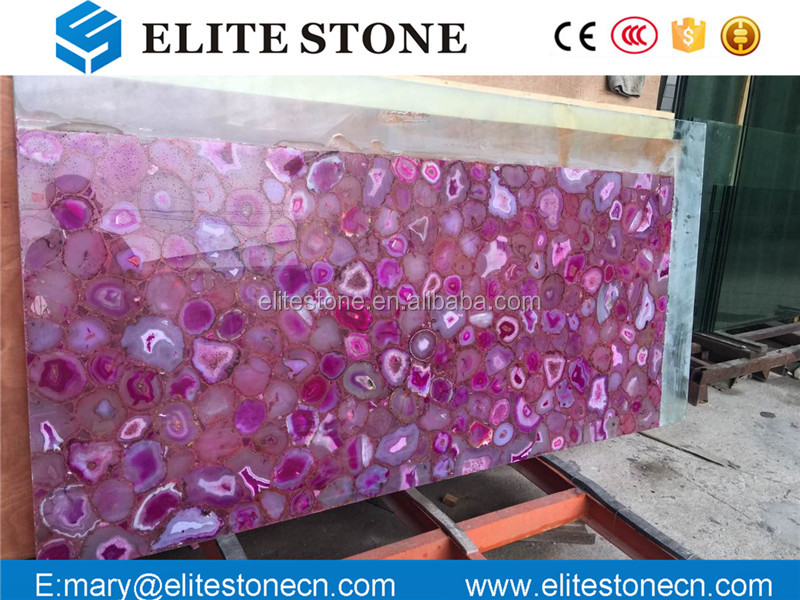 Agate stone slab semi precious stone tiles purple gemstone table top amethyst slab /marble slab/tiles