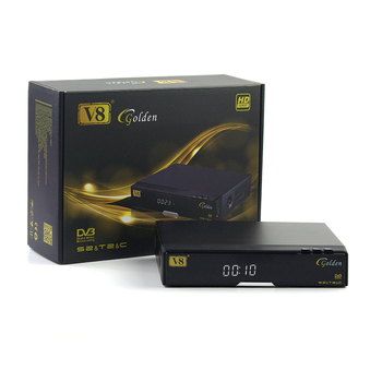 Genuine V8 Golden DVB-S2+T2/C 1080p full hd iptv set top box support cccam youtube 3g powervu PVR digital satellite receiver