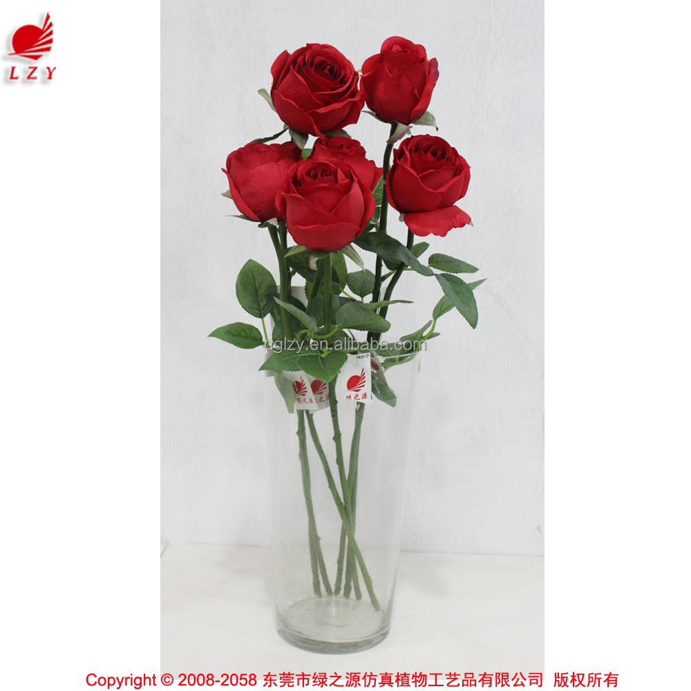 factory direct artificial flowers High Quality Silk Flowers fake rose flower for valentine's day