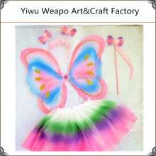 High Quality Wholesale Girls Party Dance Fairy Butterfly Wings Costume With Fairy Wand