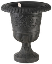 Round Mouth with Wide Edge Flower Pots with Pedestal and Automatical Watering System