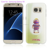 TPU Case Special 3D Relief Printing Pattern Be strong Design Scratch Resistant Full Protective Back Cover for Samsung Galaxy S6