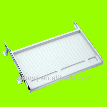 hotsales Plastic Key board shelf or tray or rack with drawer slide for computer(KS1411)