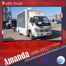 Forland 4*2 98hp small truck with advertisement led panel, led mobile truck for sale