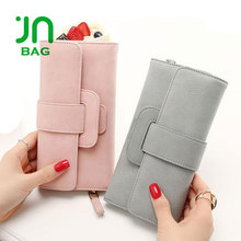 JIANUO Wholesale ladies fancy hand wallets brand name ladies purse