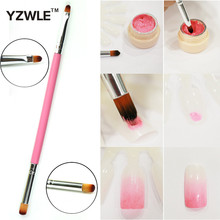 YZWLE Hot Sale! nail art brush Dual-use Gradual Color Blooming Gel Polish Brush For Manicure Painted Drawing
