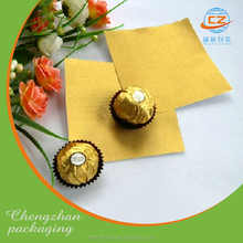 FDA aluminum foil roll film for chocolate wrapper/ candy wrapping paper