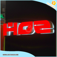 taxi roof acrylic solar advertising sign,hot sale acrylic letter sign,top taxi sign solar