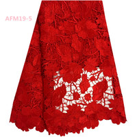 Good Quality Fashion Red Lace Material For Wedding, Lace Fabric In Rolls