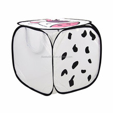 LA047 Pop up hamper with handles mesh laundry bag cow laundry sorter