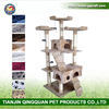 BSCI Qingquan Manufacturer Wholesale Sisal Cat Tree Scratching Post & New Plush Cat Toys & Wooden Cat House