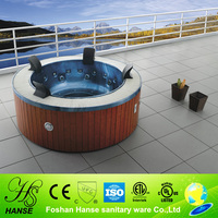 HS-B3329M round 4 people aqua jet spa,adult hot spa tub,ozone spa