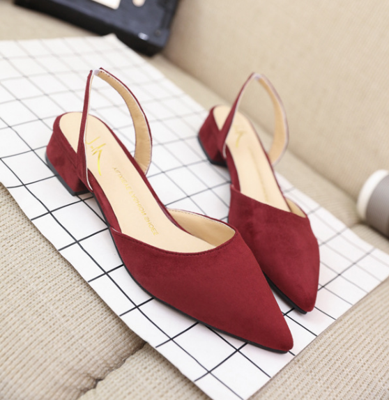 Beautiful shoes suede sandals with low <strong>heels</strong> for women and ladies