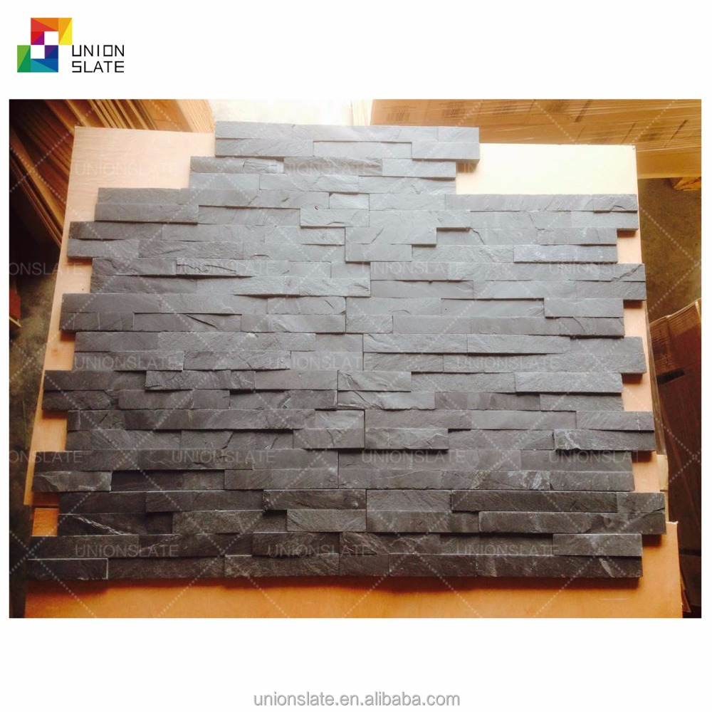 black slate wall panel natural culture stone decorative wall covering panels
