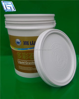 20L virgin PP plastic material paint plastic bucket for water stock