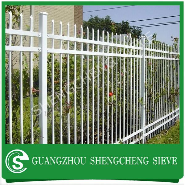 Palisade fence with picket on the top wrought iron unit price