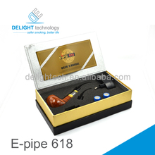 Top selling best quality Vapor e pipe 2013 newest DCT atomizer cheap e pipe 618 e cig