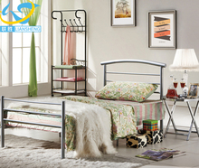 Strong steel wrought simple iron folding single bed