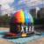 Kids N adults music party disco dome inflatable bouncy castle with led light hook on top from Guangzhou inflatable factory