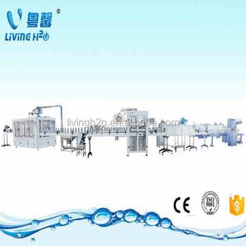 pet packaged drinking water bottle filling caping machine