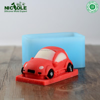 Baby DIY Soap Making Cartoon Silicone Mold 3D Car Silicone Mould