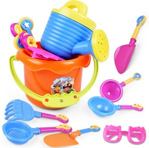 YH147 2019 9PC Cartoon Tiny Beach Sand Tools Toys Bucket Set Children Outdoor Toys for Your Spring/Summer Holiday