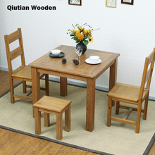 wooden dining table sets solid wood square tables dining room furniture Natural wood Japanese style