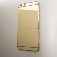 mirror gold plated housing, 18k 24k gold plated for iphone 6 plus housing